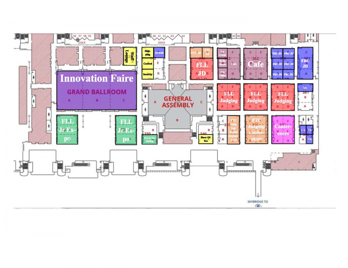 Indiana Convention Center Floor Plan Campus Guide First Championship